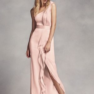 Vera Wang bridesmaid dress Blush one shoulder